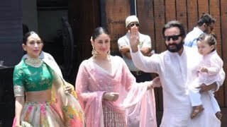 Download Video Kareena Kapoor,Karisma Kapoor, Saif Ali Khan with Baby Taimur Arrive for Sonam Kapoor's Wedding MP3 3GP MP4