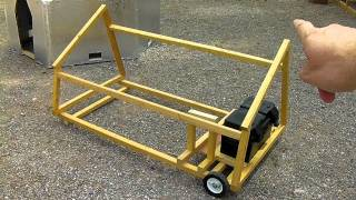 Cheap 2x2 Lumber Solar Cart