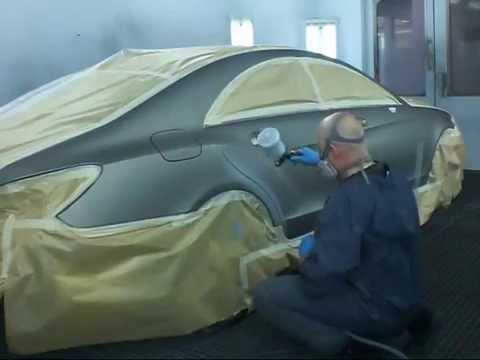 окраска матовым лаком  Mercedec CLS 500  2013 г в