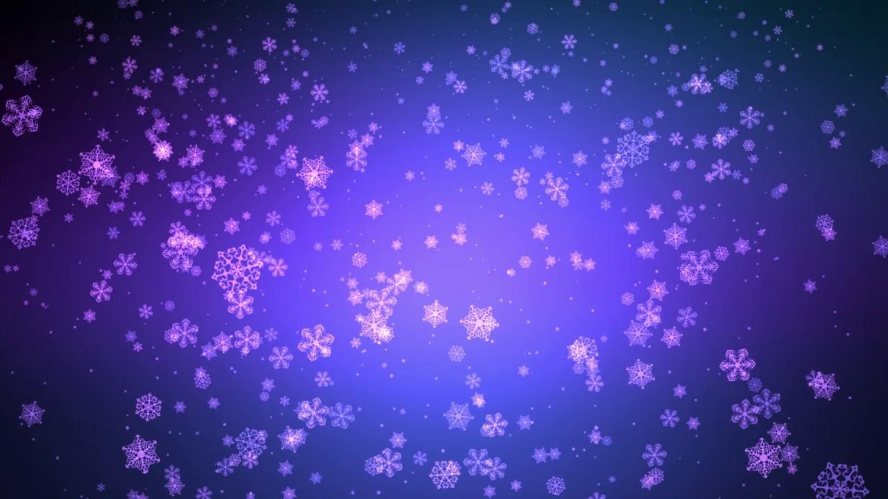 Free Animated Snow Falling Wallpaper 60 00min ♫ Blue Purple Falling Snowflakes ♫ W Music