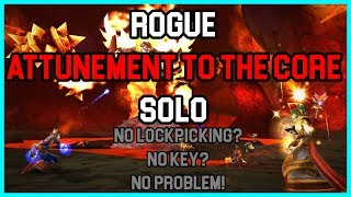 Rogue Solo Molten C๐re Attunement ! Classic / Vanilla WoW