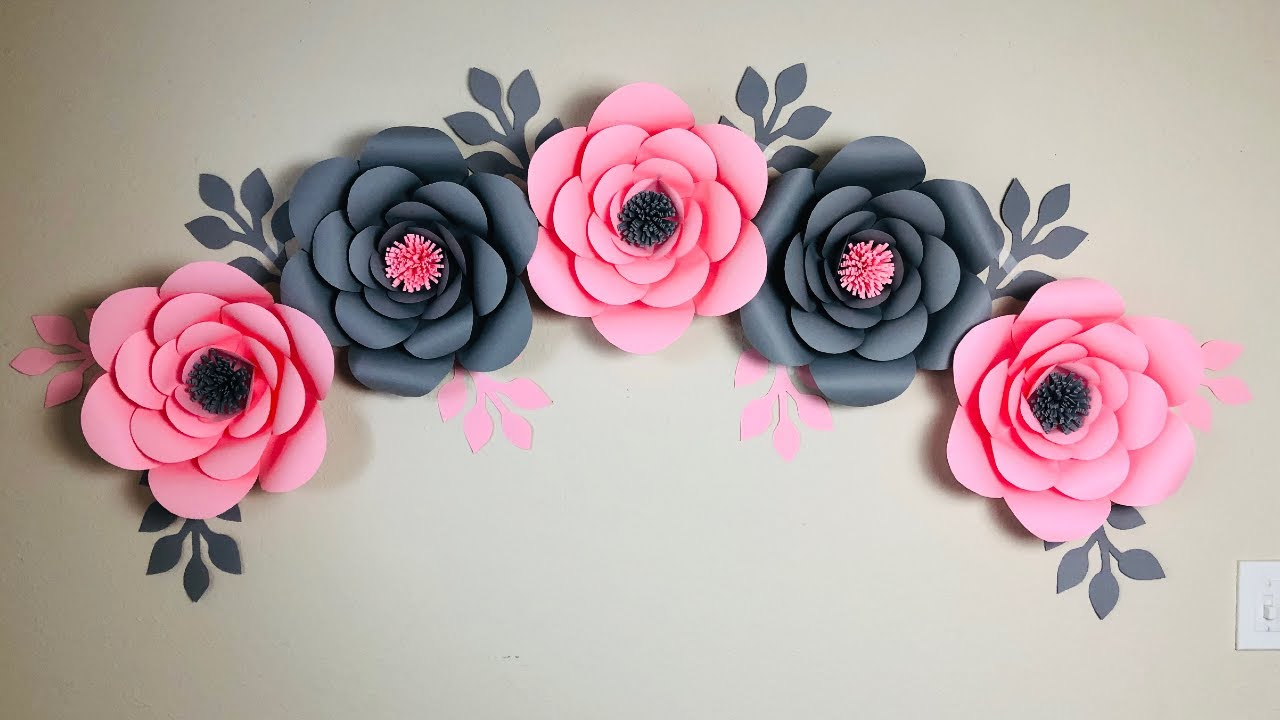 Room Decor Ideas Nursery Paper Flowers Diy Paper Flower Wall Decoration Ideas Youtube
