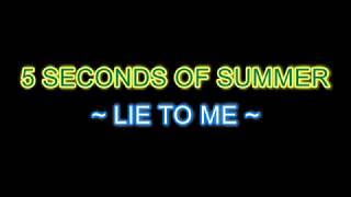 5sos - Lie to me Instrumental Karaoke (with GUIDE MELODY) w/ background voices (Album: Youngblood)