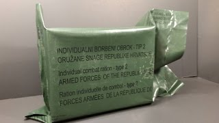 2015 Croatian Armed Forces Type ll 24 Hour Military Ration MRE Review Combat Food Tasting