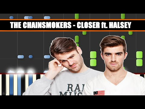 CLOSER (The Chainsmokers ft. Halsey) EASY / ADVANCED Piano Tutorial / Cover SYNTHESIA+ MIDI File