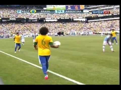 Brasil 3x4 Argentina - JOGO COMPLETO/FULL MATCH - Amistoso/Friendly - 09.06.2012