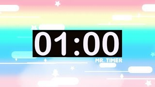 1 Minute Timer with Music for Kids! Countdown Videos HD!
