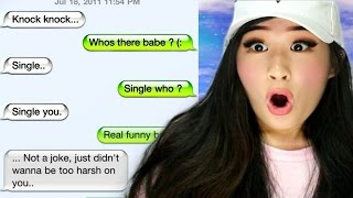 reacting to the funniest break up texts
