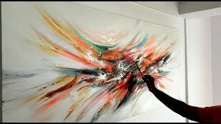 Large Abstract Painting / Demonstration in Acrylics / Project 365 days / day #0118