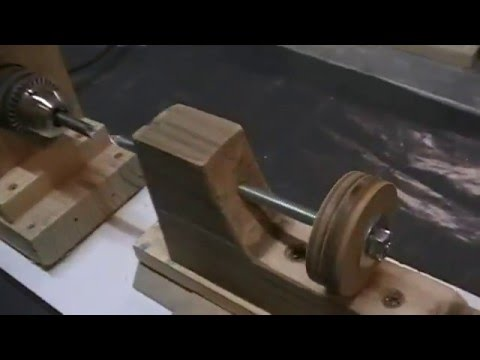 Beau Fabriquer Un Mini Tour à Bois Entrainé Par Une Perceuse U2026 Homemade Wood  Lathe !   YouTube