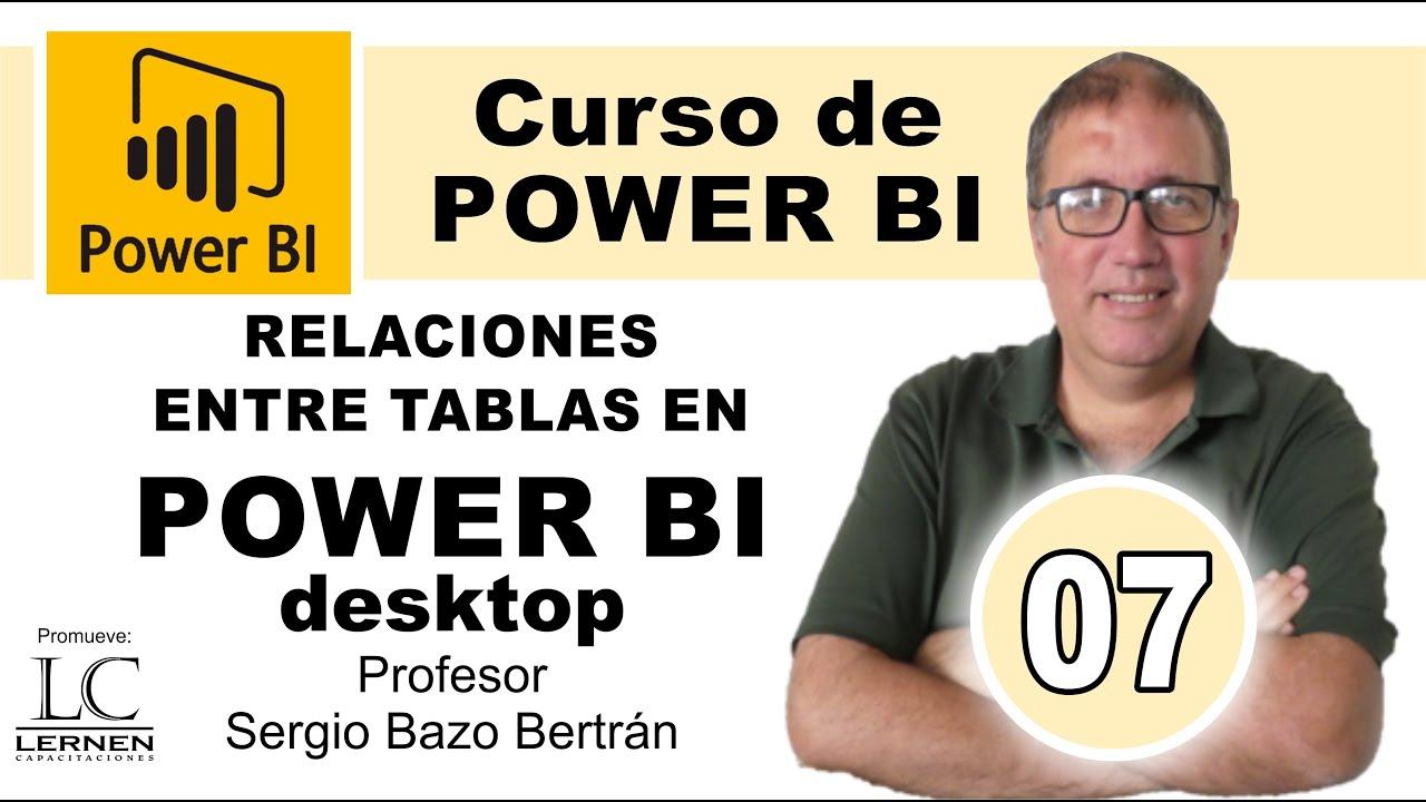 Curso GRATUITO de POWER BI | Parte 07 | Cómo establecer RELACIONES ENTRE TABLAS en POWER BI DESKTOP