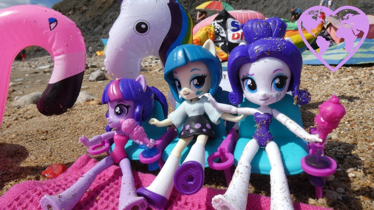 Mlp Equestria Girls Floaty Beach Party With Rarity Twilight