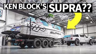 Ken Block's Raptor Powered... Supra?? Plus, Indoor Burnout!