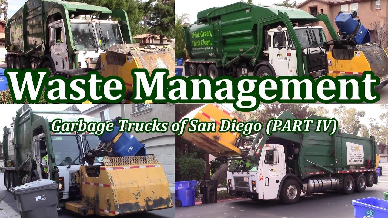waste management garbage trucks of san diego part iv the curotto cans youtube. Black Bedroom Furniture Sets. Home Design Ideas