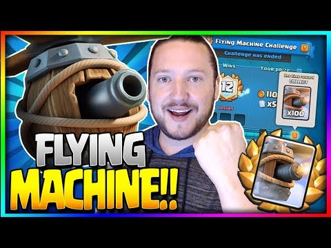NEW 'FLYING MACHINE' CHALLENGE - How to Unlock New Card Early + 12 Wins!? - Clash Royale