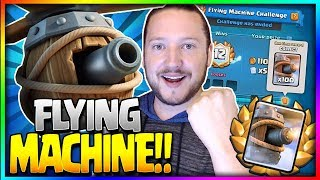 12 WINS - NEW FLYING MACHINE UNLOCKED!! How to Win Draft Challenge! - Clash Royale