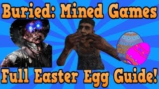 """Black Ops 2 Buried"" Complete ""Mined Games"" Easter Egg Tutorial (Maxis"