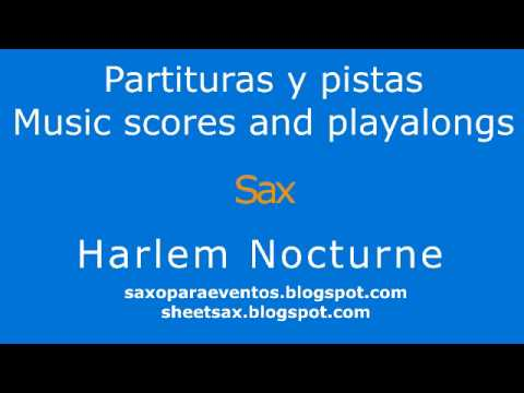 Sheet music and playalong of Harlem Nocturne for wind and string