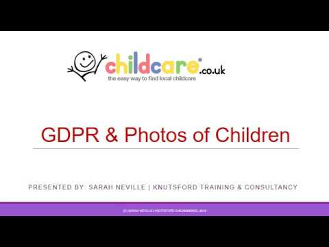 GDPR and Photos of Children for Early Years Settings