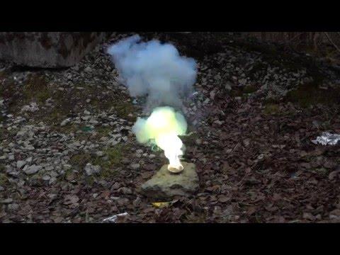 Цинк + Сера = Зеленый огонь!