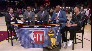 Klay Thompson Joins The Crew Postgame | Cavaliers vs Warriors Game 3 NBA Finals | June 7, 2018