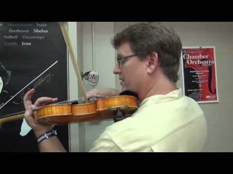 Parallel or 'Straight' Bowing Trick for Violin