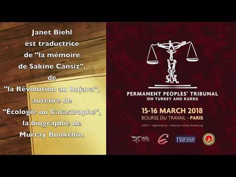 Janet Biehl (writer) endorses the Peoples Tribunal on Turkey