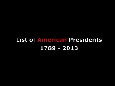 List of Presidents in Order & Years Served w/ Terms as American President of the United States