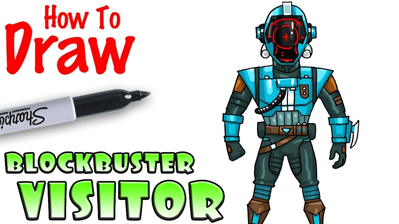How To Draw Blockbuster Visitor Fortnite Youtube