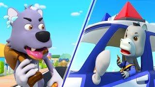 Police Chase Thief   Police Cartoon   Big Bad Wolf   Nursery Rhymes   Kids Songs   BabyBus
