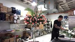 #FloristDesigner how to make  flower 🌺 arrangements for lobby hotel 🏨