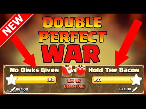 Clash of Clans | Double Perfect War [50v50 Clan War] Best of Th8 3 Star Attack Strategies! War Recap