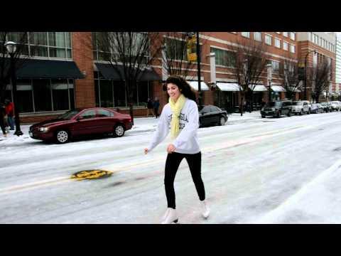 Ice Skating on the streets of Atlanta - January 11, 2011
