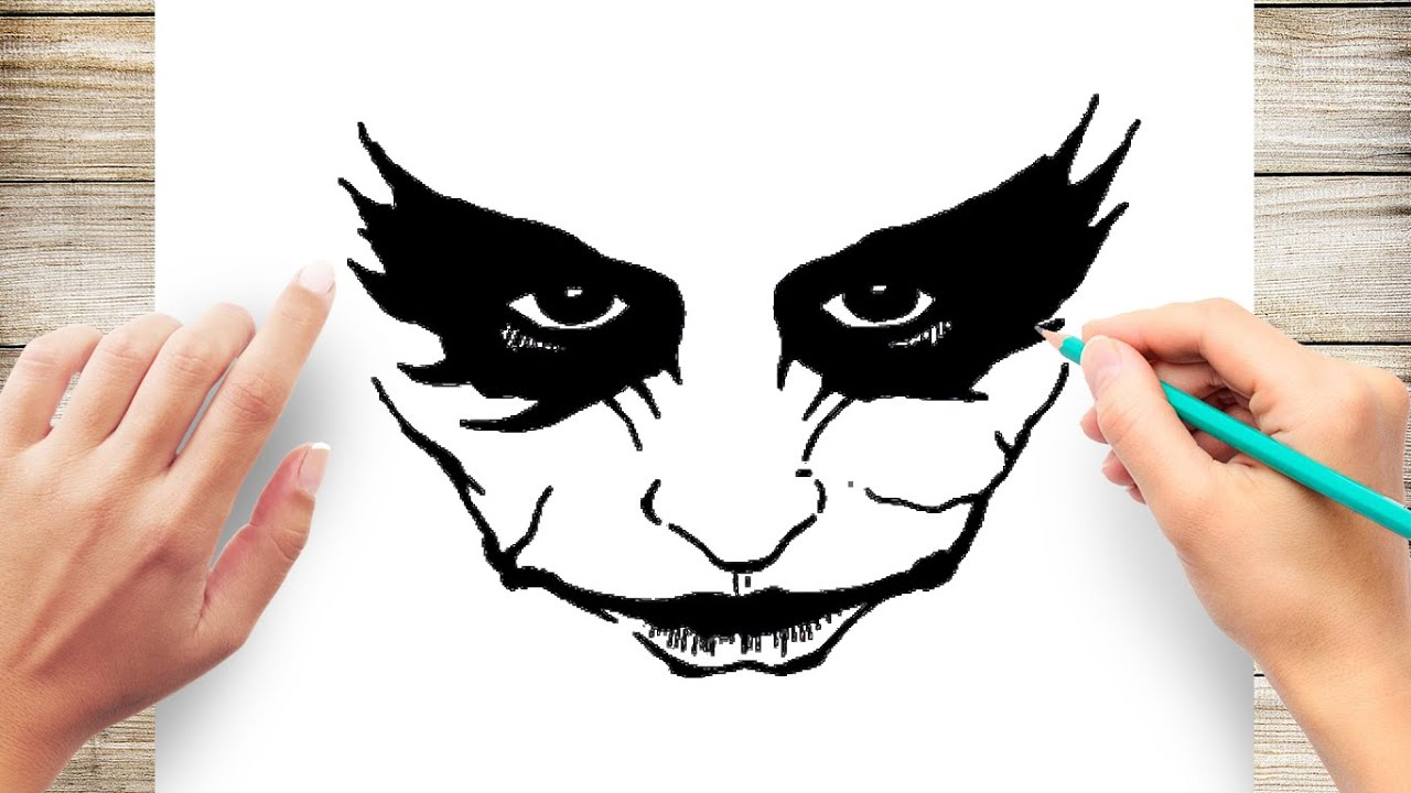 How To Draw Joker Smile Step By Step Youtube