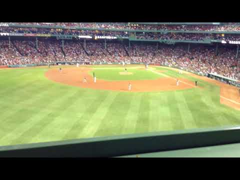The View From The Seats On Top Of The Green Monster In Fenway Park