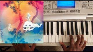 KANYE WEST & KID CUDI - REBORN (KIDS SEE GHOST ALBUM) PIANO TUTORIAL