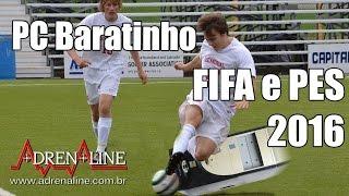 PC Baratinho para Jogar Adrenaline bate uma bolinha com FIFA 16 e PES 2016