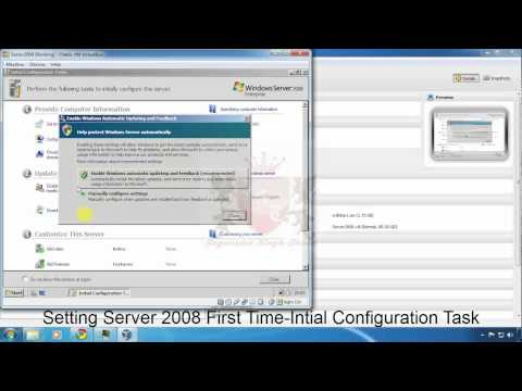 Initial Configuration Task - Windows Server 2008 Installation - Part 2
