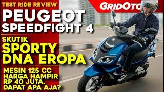 Peugeot Speedfight 4 l Test Ride Review l GridOto
