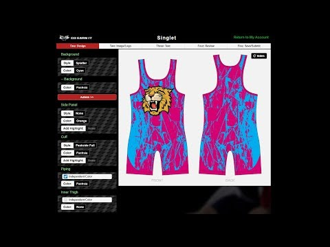 How To Use Go Earn It's Design Builder: Custom Wrestling Singlets And Uniforms