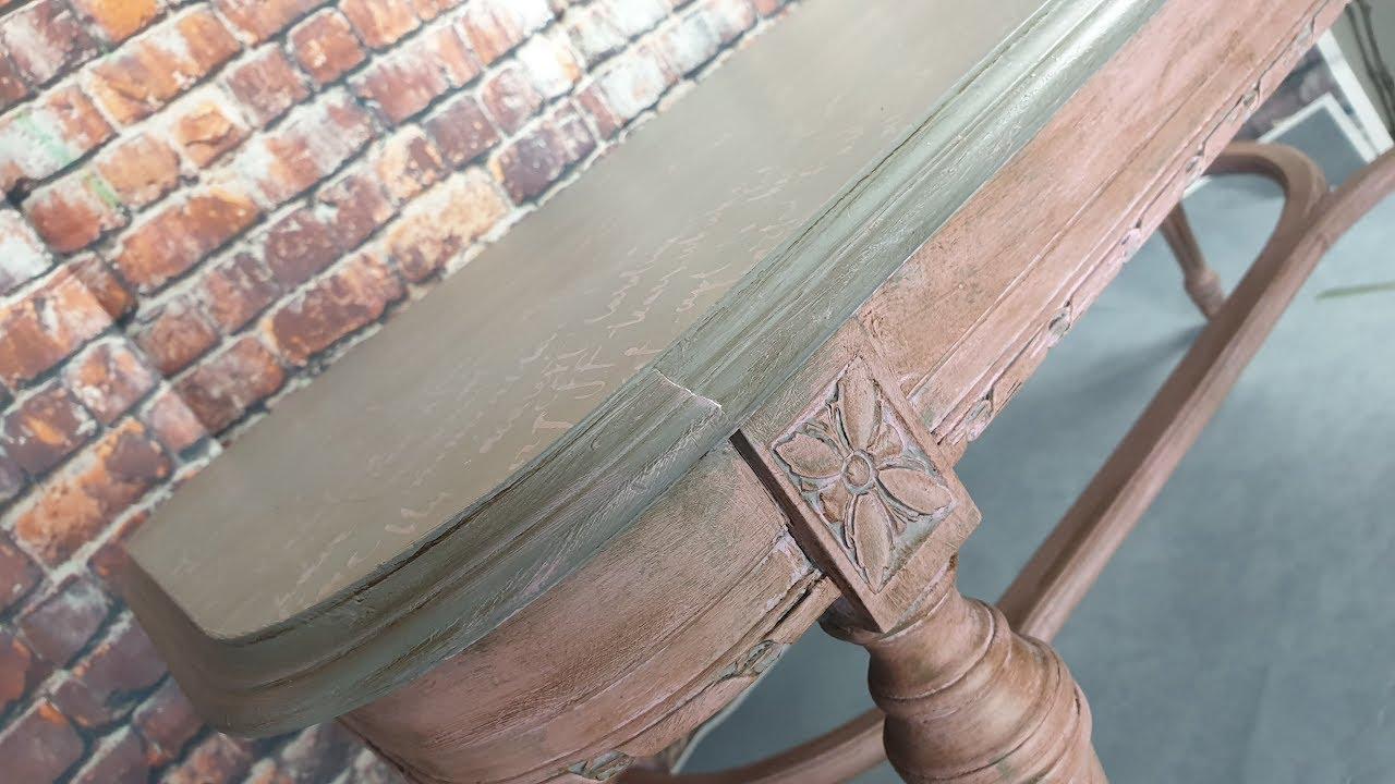 Παλαίωση τραπέζι σαλονιού με chalk paints La Pajarita