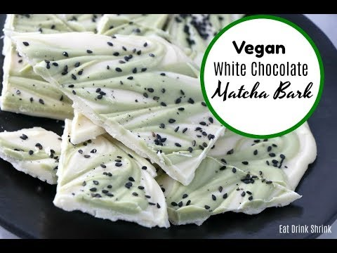 Vegan White Chocolate Matcha Bark