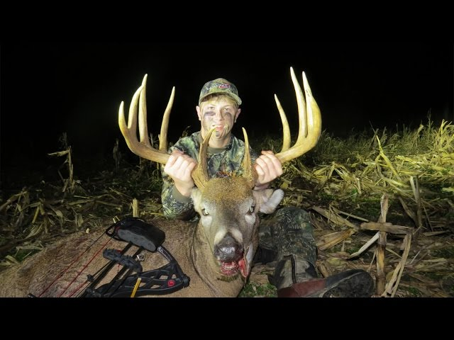 16 Year Old Shoots Giant Buck! Must Watch!