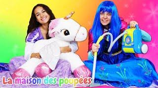 Vidéo drôle en français. Les princesses font du ménage.