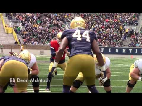 WATCH: Notre Dame spring game highlights
