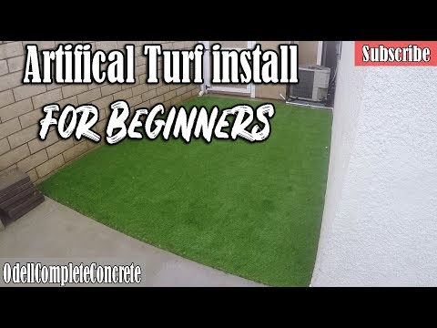 How to Install Artificial Turf for Beginners DIY