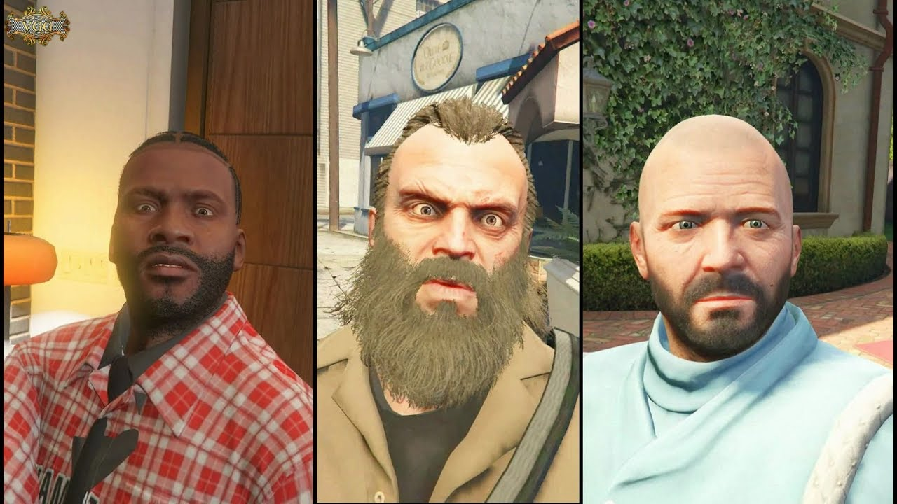The Many Looks of Franklin, Trevor and Michael GTA 5