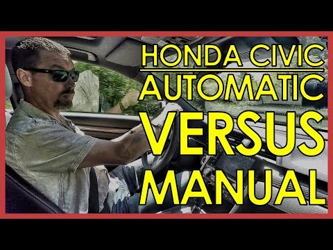 2017 HONDA CIVIC: CVT AUTOMATIC VS MANUAL TRANSMISSION