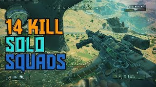 PC BO4: SOLO SQUAD 14 KILL OBLITERATION! - Stealth is key! (Blackout)