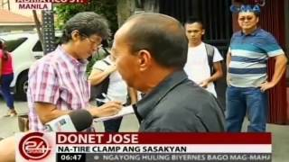 Mga motoristang iligal ang pagparada sa Maynila, na-tire clamp ang mga sasakyan at pinagmulta